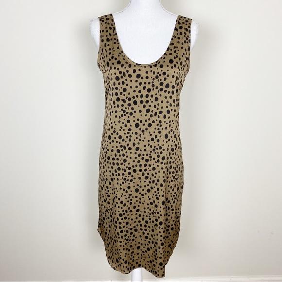 Tucker Dresses & Skirts - Tucker brown and black polkadot satin dress